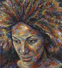 David WALKER Anglais - Né en 1976 Ruth - 2014 Peinture aérosol sur toile