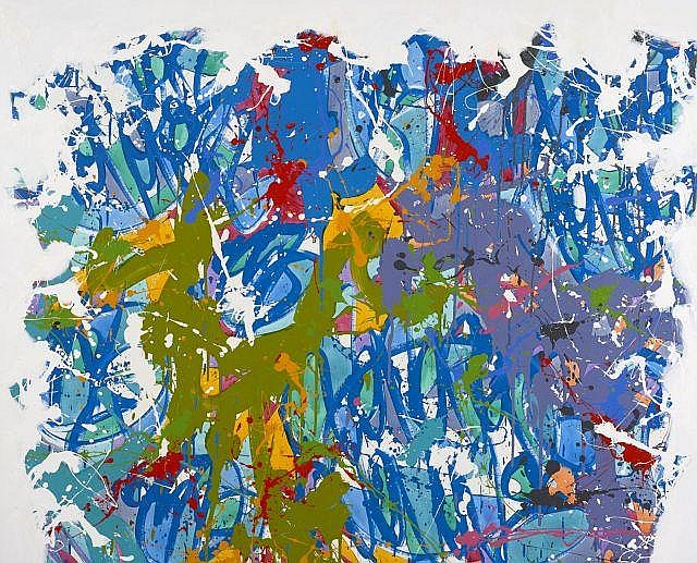JONONE (John Perello dit) Américain - Né en 1963 Right of ways - 2012 Acrylique sur toile
