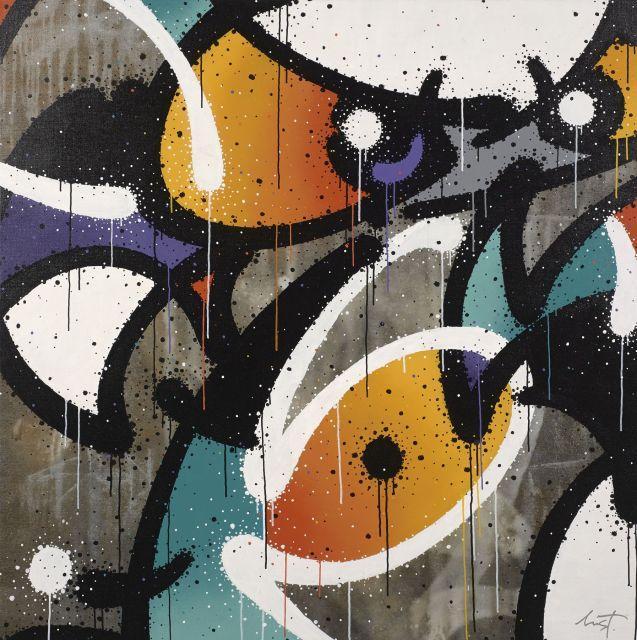 MIST Français - Né en 1972 Revelation - 2011 Peinture aérosol et acrylique sur toile