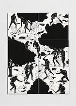 Cléon PETERSON Américain - Né en 1973 Hysteria - 2012 Acrylique sur six panneaux de bois