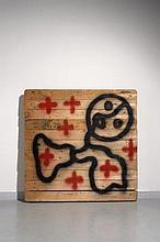 Gérard ZLOTYKAMIEN Français - Né en 1940 Ephémère - 2010 Peinture aérosol sur palette en bois