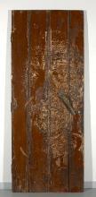 VHILS (Alexandre FARTO dit) Portugais - Né en 1987 Insculpt #2 - 2012 Porte de récupération sculptée et gravée par l'artiste