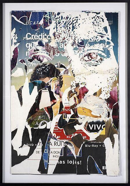 VHILS (ALEXANDRE FARTO DIT) Portugais - Né en 1987 Billboard Affiches collectées dans la rue et découpées au cutter