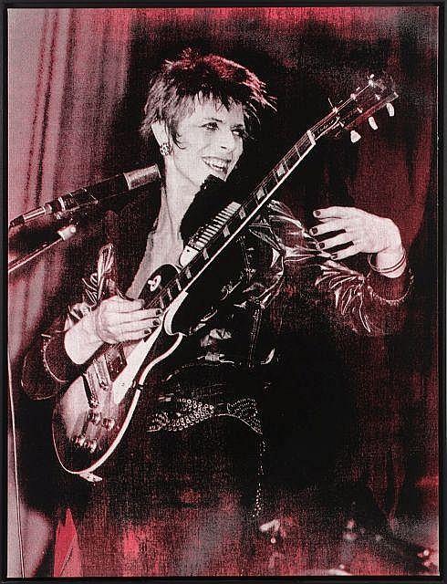 ¤ Russell Young Anglais - Né en 1960 Bowie - 2008 Acrylique et sérigraphie en couleur sur toile
