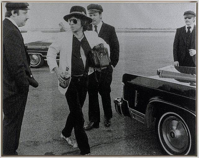 Russell YOUNG Anglais - Né en 1960 Keith Richards - 2008 Acrylique, sérigraphie et poussière de diamant sur toile