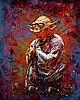 C215 Français - Né en 1973 Yoda - 2015 Pochoir, peinture aérosol et acrylique sur toile