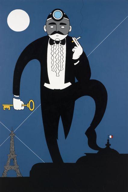 HONET (HNT) Français - Né en 1972 Fantômas - 2011 Acrylique sur toile