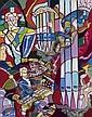 Charles LAPICQUE (Theizé, 1898- Orsay, 1988) CHORAL POUR LA PENTECOTE, 1966 Huile sur toile, Charles Lapicque, Click for value
