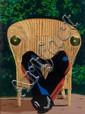 Eduardo ARROYO (né en 1937) LA SILLA DE YALTA, 1969 Huile sur toile