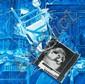Jacques MONORY (né en 1924) LE PEINTRE N°19/2, n°763/2, 1987 Huile sur toile et collage d'une photographie en noir et blanc vissée s..