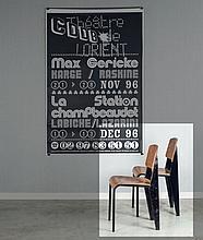 Jean PROUVE (1901 - 1984) Paire de chaises mod. Métropole 305 dites