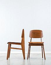Jean PROUVE (1901-1984) Paire de chaises
