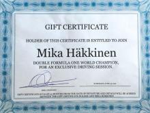 Leçon de conduite par Mika Häkkinen