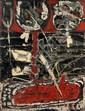 François ARNAL (né en 1924) ON EST LOIN DES MORTS, 1957 Huile sur toile