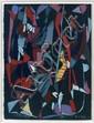 André LANSKOY (1902-1976) POUR JOUR DE L'AN, 1966 Gouache sur papier