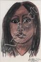 CORNEILLE (1922-2010) AICHA, 2003 Aquarelle, encre et chine et fusain sur papier