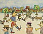 Antonio SEGUI (né en 1934) EL PARQUE, 2012 Marqueurs et feutres de couleur sur papier marouflé sur carton fin