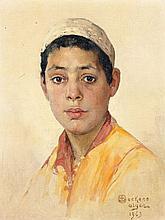 Emile DECKERS (1885 - 1968) JEUNE HOMME