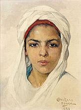 Emile DECKERS (1885 - 1968) JEUNE FILLE