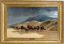 Eugène GIRARDET (1853 - 1907) LA CARAVANE