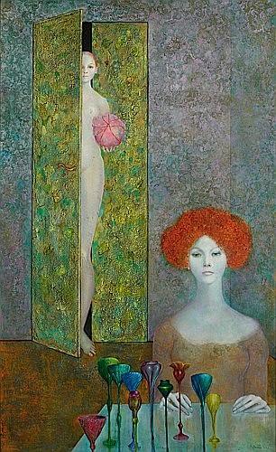 Léonor FINI (1908-1996) LA FETE SECRETE, 1964 Huile sur toile