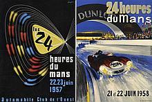 LES 24 HEURES DU MANS 1957 ET 1958  DEUX AFFICHES
