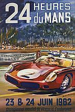 LES 24 HEURES DU MANS 1962 Michel BELIGOND (1927-1973)