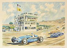 Géo HAM (Georges HAMEL) (1900-1972)  La nouvelle tour de contrôle de l'autodrome de Monthléry