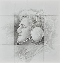 Michel LECOMTE (1935-2011)  Portrait de Hugues de Chaunac, 2010