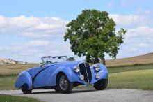1936 Delahaye 135 châssis court compétition cabriolet Figoni Falaschi
