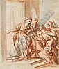 Elisabetta SIRANI Bologne, 1638 - 1665 LA VISITATION (recto) ; SCENE RELIGIEUSE AU CRAYON NOIR (verso) Sanguine et lavis gris, Elisabetta Sirani, Click for value