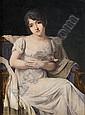Jean-Baptiste ISABEY Nancy, 1767 - Paris, 1855 PORTRAIT DE JEUNE FEMME A L'OISEAU peinture sur ivoire, Jean Baptiste Isabey, Click for value