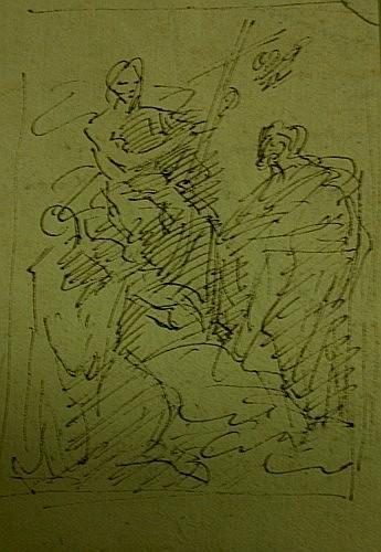 Francesco TREVISANI (1656-1746) ou Angelo TREVISANI (1669- après 1753) SCENE RELIGIEUSE Plume et e...