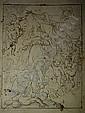 Attribué à Cornelis SCHUT Anvers, 1597 - 1655 LA VIERGE TERRASSANT LE MALIN Plume et encre brune sur trait de crayon noir, estompe, Cornelis Schut, Click for value