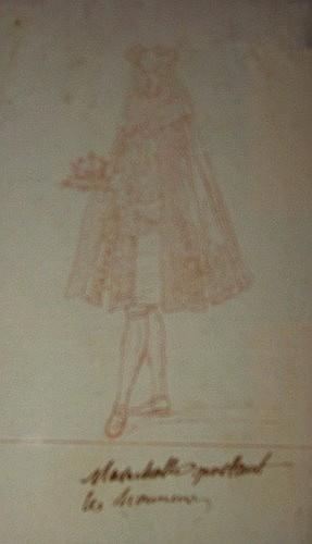 Charles-Nicolas COCHIN le vieux Paris, 1688 - 1754 MARECHAL PORTANT LES HONNEURS Sanguine