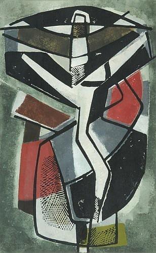 Francis Etienne MONTANIER (1895-1974) COMPOSITION, 1972 Gouache et aquarelle sur papier