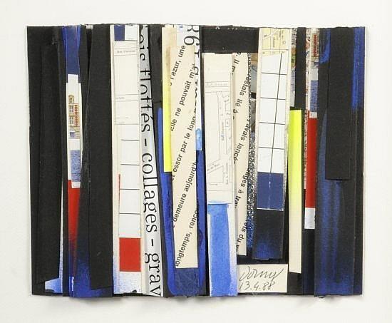 BERTRAND DORNY (Né en 1931) SANS TITRE, 1988 Technique mixte et collage de papiers sur carton