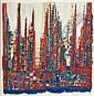 Manuel CARGALEIRO (Né en 1927) COMPOSITION, 1981 Gouache sur papier découpé, Manuel Cargaleiro, Click for value
