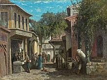 Germain Fabius BREST (Marseille, 1823 - Marseille, 1900) Rue animée, Constantinople