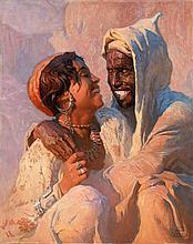 Adam STYKA (Pologne, 1890 - Doyleston, 1959) Les amoureux