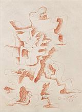 Ossip ZADKINE 1890 - 1967 Composition - 1967 Encre rouge sur papier