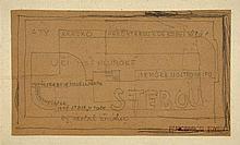 Jindrich STYRSKY 1899 - 1942 Sans titre - 1923 Mine de plomb sur papier
