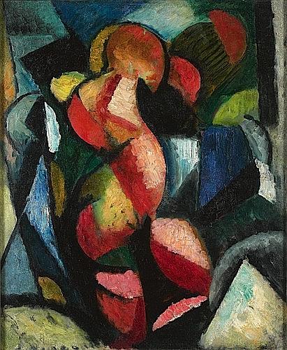 Manuel ORTIZ DE ZARATE (1886-1946) NU, CIRCA 1916 Huile sur toile signée et dé...