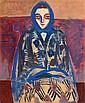 Arpad SZENES (1897-1985) PORTRAIT DE VIEIRA, circa 1945 Gouache sur carton, Árpád Szenes, Click for value