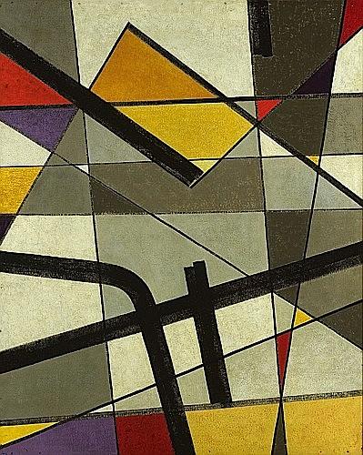 Jean LEPPIEN (1910 - 1991) COMPOSITION, LXXXVI, 1949-1950 Huile sur panneau d'isorel...