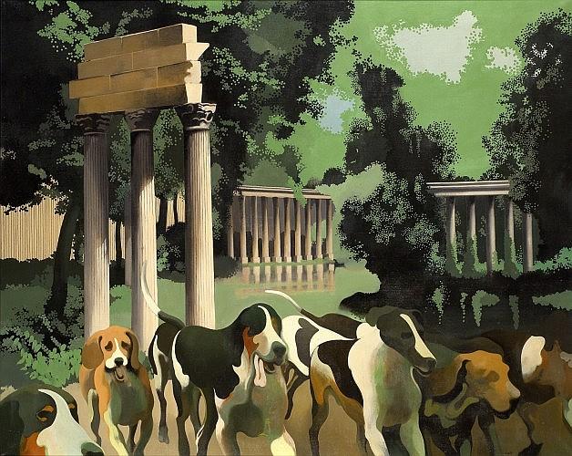 Henri CUECO (né en 1929) LE PARC MONCEAU, 1972 Huile sur toile