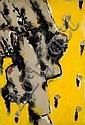 Jean-Charles BLAIS (né en 1956) SANS TITRE, 1986 Huile, collage de papier et épingles sur carton, Jean-Charles Blais, Click for value