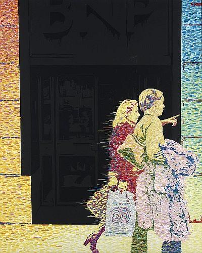 Ivan MESSAC (Né en 1948) NE RESTONS PAS LA, 1977 Acrylique sur toile