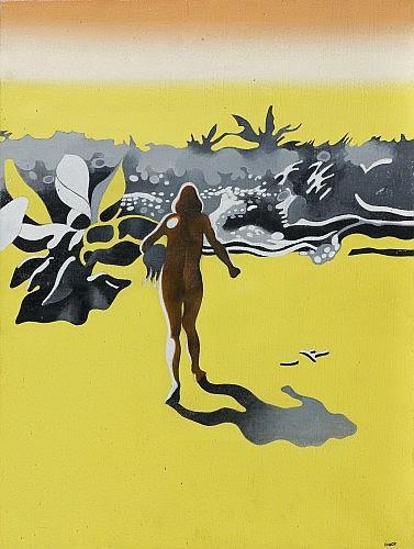 Henri CUECO (né en 1929) PLAGE, 1967 Huile sur toile