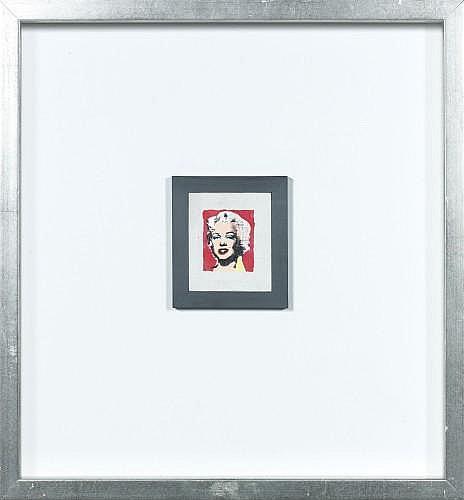 Richard PETTIBONE (né en 1938) MARYLIN MONROE, 1978 Acrylique et sérigraphie sur toile encadrée